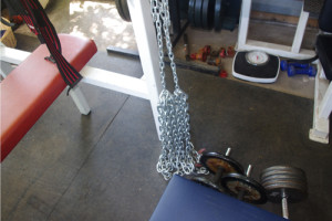 Chains used on my bench press